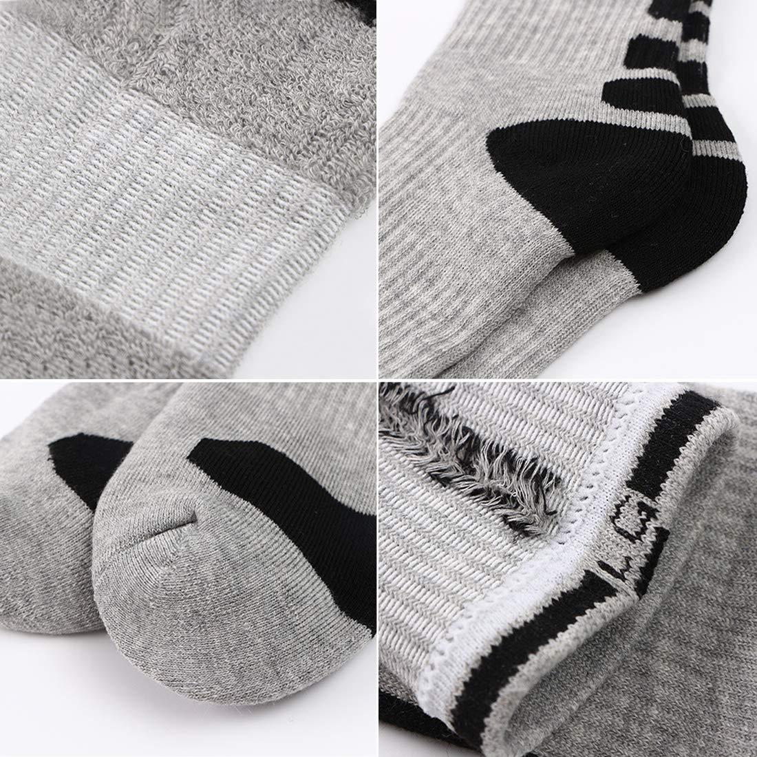 Mens Dri-fit Cushioned Basketball Socks Athletic Long Compression Socks Pack