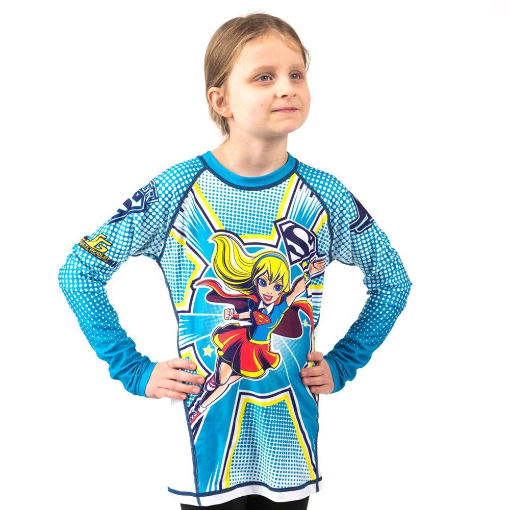 Fusion Supergirl Kids Rash Guard Compression Shirt Long Sleeve