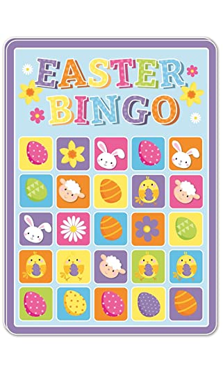 15 happy easter bingo cards party gift bag filler family kids 15 happy easter bingo cards party gift bag filler family kids children game toy negle Images