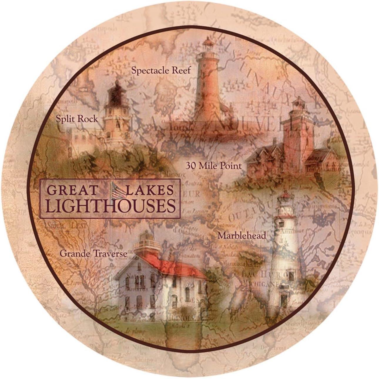 Thirstystone Stoneware Coaster Set, Great Lakes Lighthouses