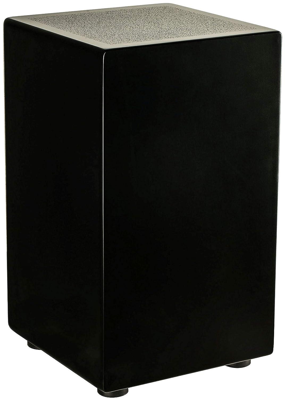 Black Meinl Percussion CFT5-BK Cajon Foot Tambourine with Steel Jingles