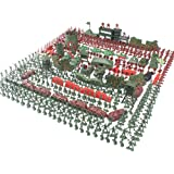 About 150/500 PCS World War II Army Men,War Soldiers with Hand Bag,Toy Soldiers Set,Gift for Kids (500 PCS)