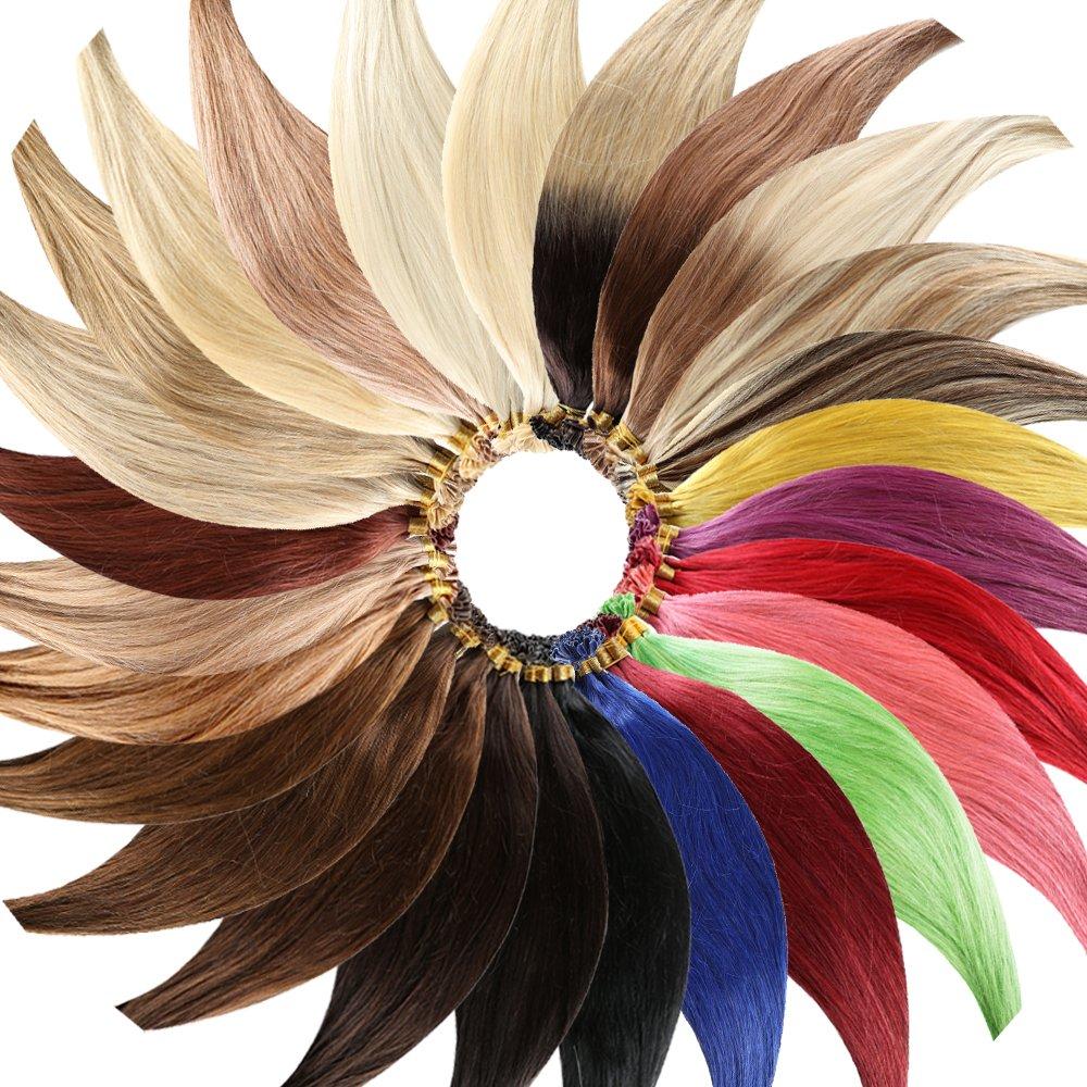 #1B - Clip-In Hair Extensions (60 cm - Glatt - 8 Tressen mit 18 Clips) Haarverlängerung XXL Komplett-SET - 140g - Kanekalon synthetisches Haar mit sehr hoher Qualität Haar-Profi