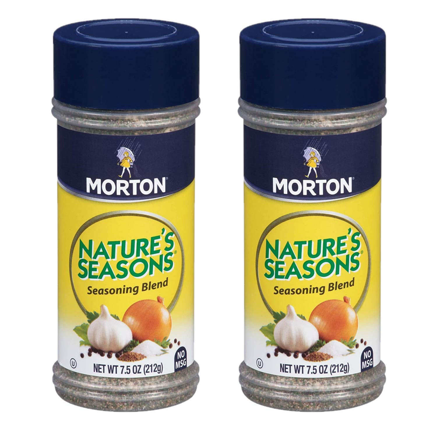 Morton Nature's Seasons Seasoning Blend 7.5oz Two Pack - Kosher Season Blend of Onion, Garlic, Salt, Pepper, and More - Two Pack Seasoning for Meats, Veggies, Potatoes
