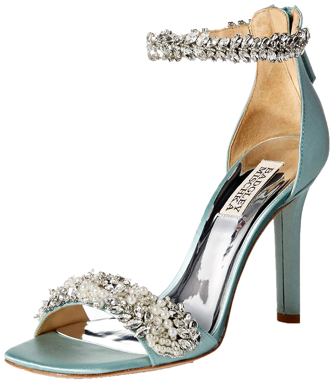 bluee Radiance Badgley Mischka Womens Fiorenza Heeled Sandal