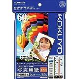 コクヨ インクジェット 写真用紙 印画紙原紙 高光沢 2L判 60枚 KJ-D122L-60