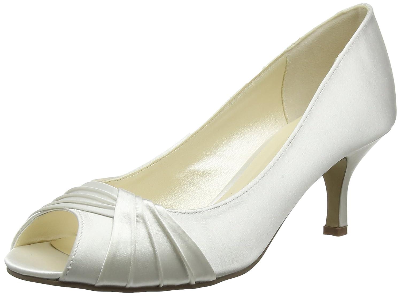 Off-Weiß Off-Weiß Off-Weiß (Elfenbeinfarben) Rosa Paradox London Damen Romantic Peep-Toe, elfenbeinfarben  das billigste