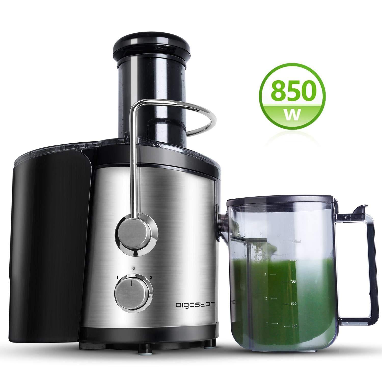 Aigostar MyFrappe Black 30IMX - 850W Licuadora semiprofesional para frutas y verduras con dos velocidades,