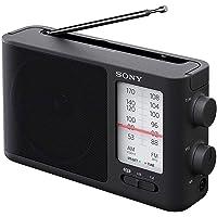 Sony 索尼 ICF506模拟调谐便携式FM/AM收音机,带电池/ AC电源
