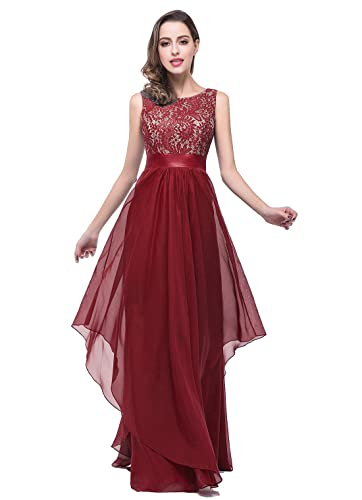 Babyonline Elegant Sleeveless Round Neck Evening Party Dress