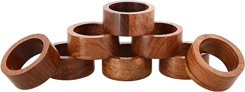 Shalinindia Handmade Wooden Napkin Rings
