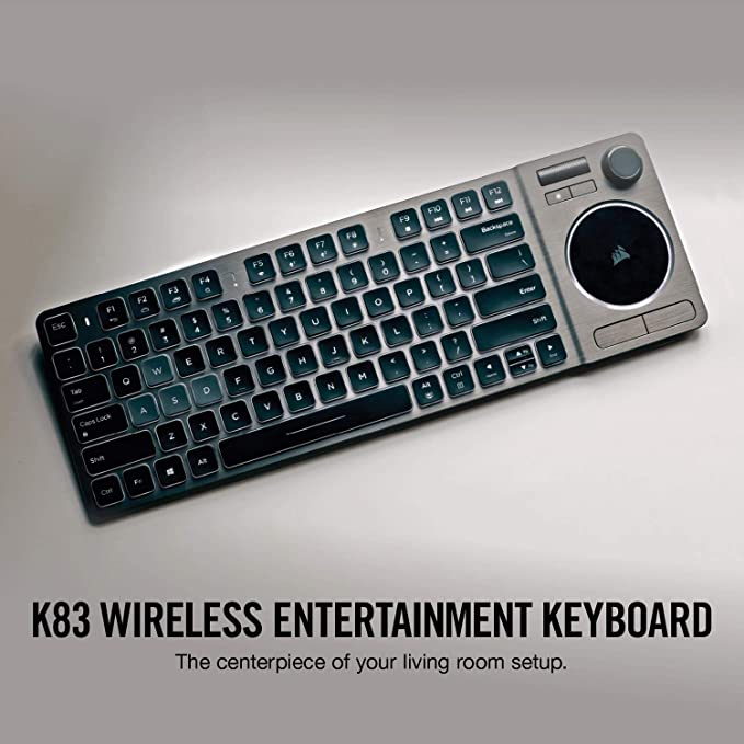 198bf1138b8 Amazon.com: Corsair K83 Wireless Keyboard - Bluetooth and USB - Works w/PC,  Smart TV, Streaming Box - Backlit LED: Computers & Accessories
