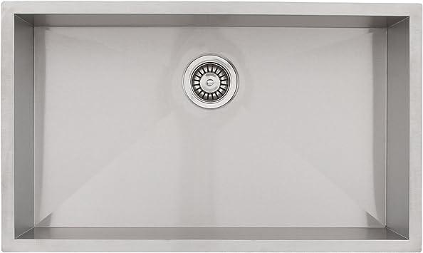 28 Phoenix Ph 0863 Undermount 16 Gauge Stainless Steel Square Kitchen Sink With Zero Radius Corners Amazon Com