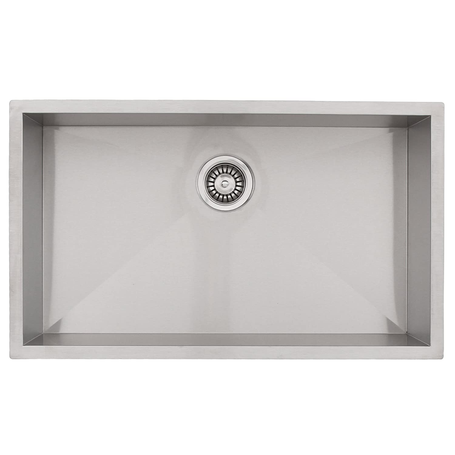 "Phoenix 36"" Undermount 16 Gauge Stainless Steel Square Kitchen Sink Zero Radius"