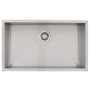 Phoenix 36 Undermount 16 Gauge Stainless Steel Square Kitchen Sink