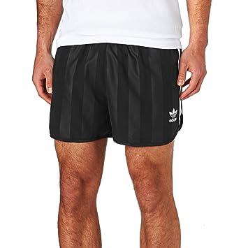 4c267f0e5 adidas Originals Mens 3 Stripe Tonal Retro Football Shorts - Black - XS