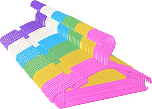 GoodtoU Baby-Hangers-Kids-Toddler-Hanger Childrens Clothes Plastic Infant White Hangers for Baby Junior 80 Pack