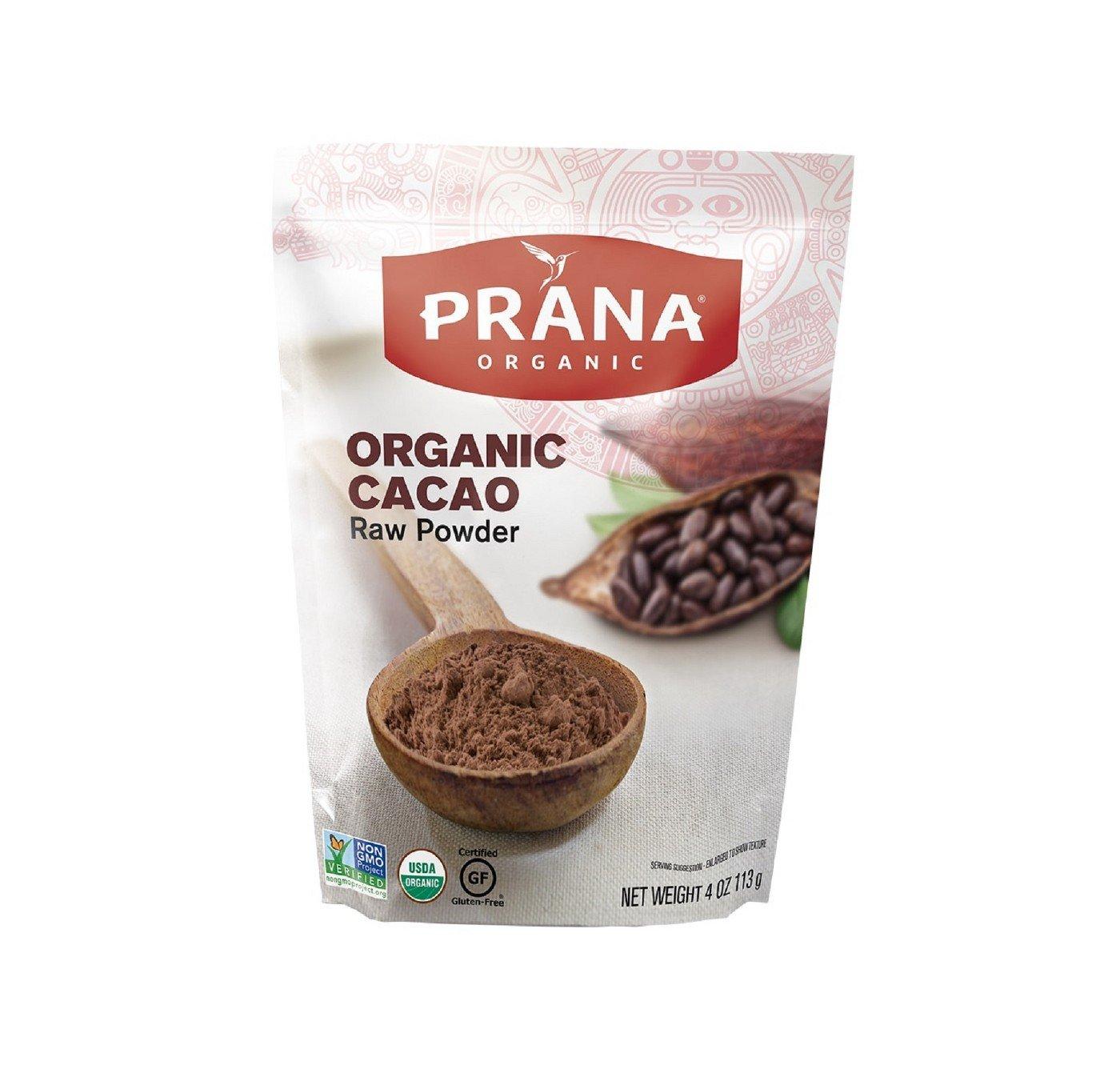 PRANA Organic Cacao Powder 4oz, pack of 1