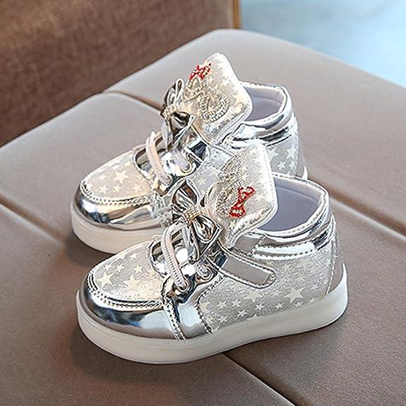 cb41c2a43ba0d Enfant Bébé Sneakers Étoiles LED Chaussures