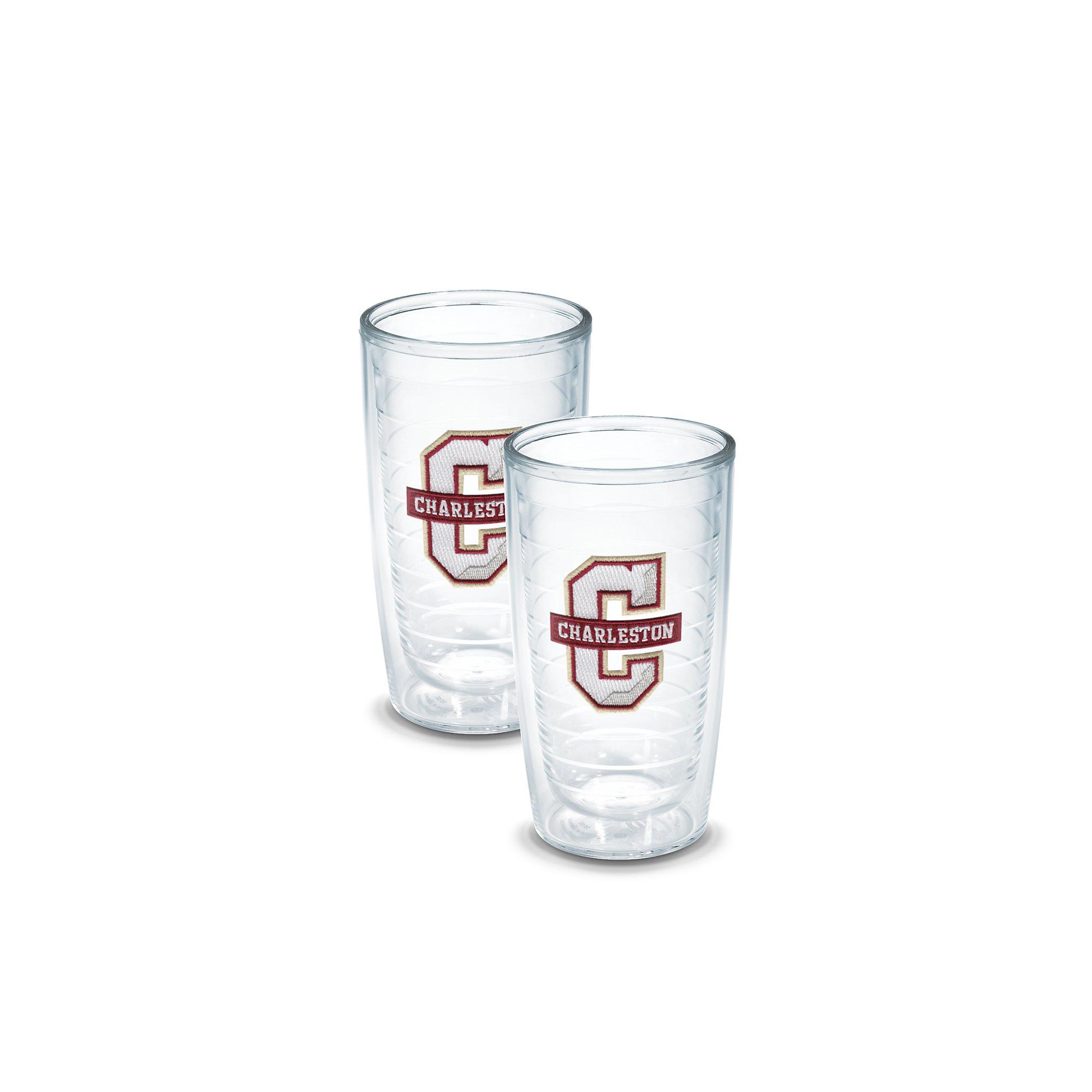 Tervis 1133369 Charleston College Emblem Tumbler, Set of 2, 16 oz, Clear