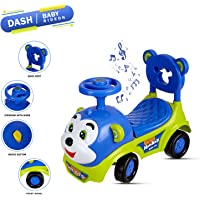 !!! Don't Miss Launch Offer !!! Dash 2 in 1 Attractive Baby Toy Monkey Ride On , Baby car , Push Car for Toddlers and Kids with Musical Tunes n Storage (Green)