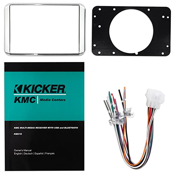 Amazon.com: KICKER KMC10 Gauge Hole Marine Digital Media Bluetooth ...