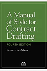 A Manual of Style for Contract Drafting Hardcover