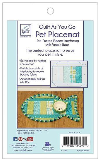 Amazon Junmn Quilt As You Go Cat Pattern Pet Placemat 12 X 20
