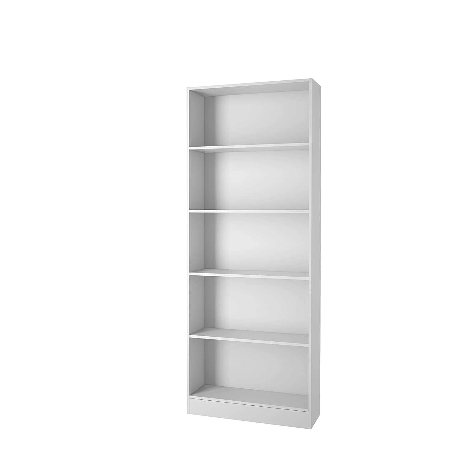 tvilum element wide 5 shelf bookcase tall