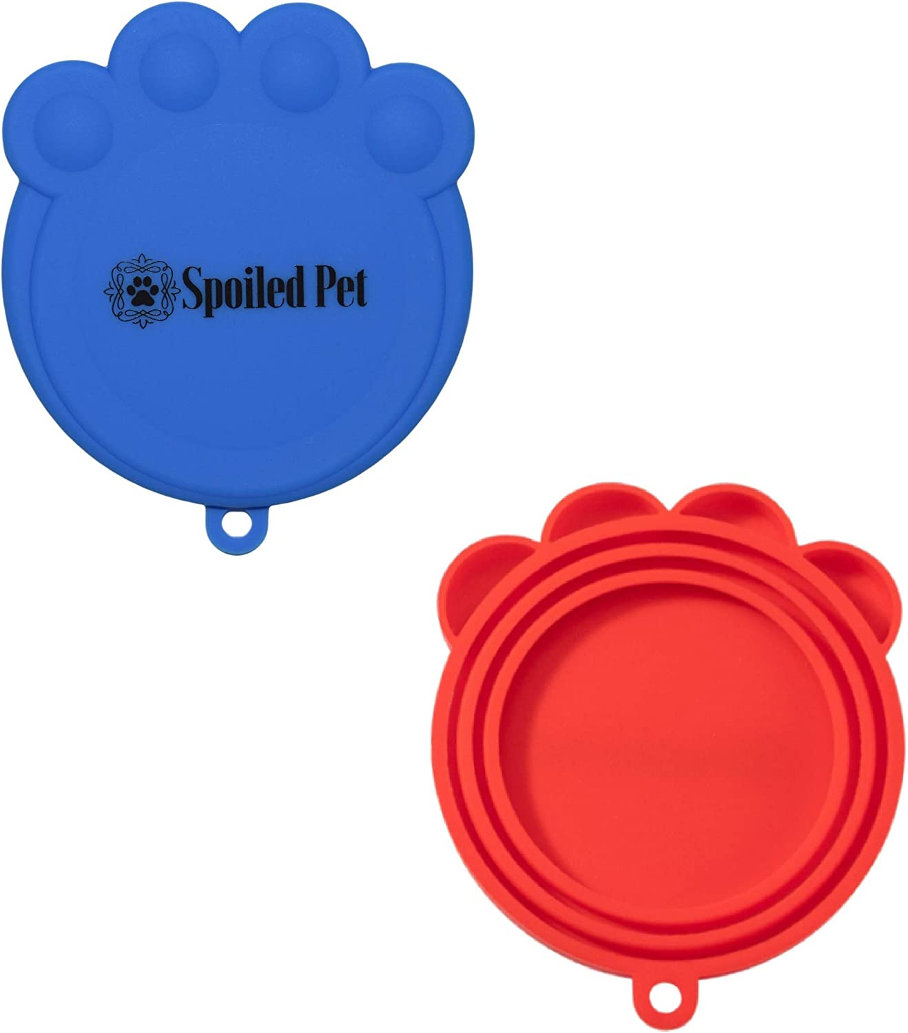 Pet Food Can Lids - Silicone Covers for Cat and Dog Pet Food Storage - 4 Pack - Universal Fitting Tops for All Standard Size Can Food - Keeps Food Fresh (4 Pack Can Cover Lids)