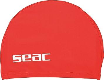 2bcc88ab7bfe Seac Lycra JR Bonnet de Bain de Piscine pour Enfants en Tissu Mixte, Rouge,