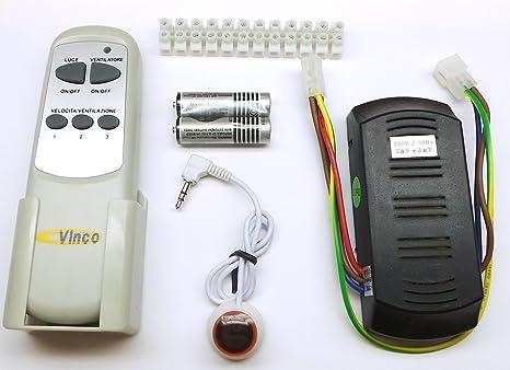 Schema Elettrico Ventilatore Velocità : Kit telecomando universale vinco per ventilatori a soffitto 3