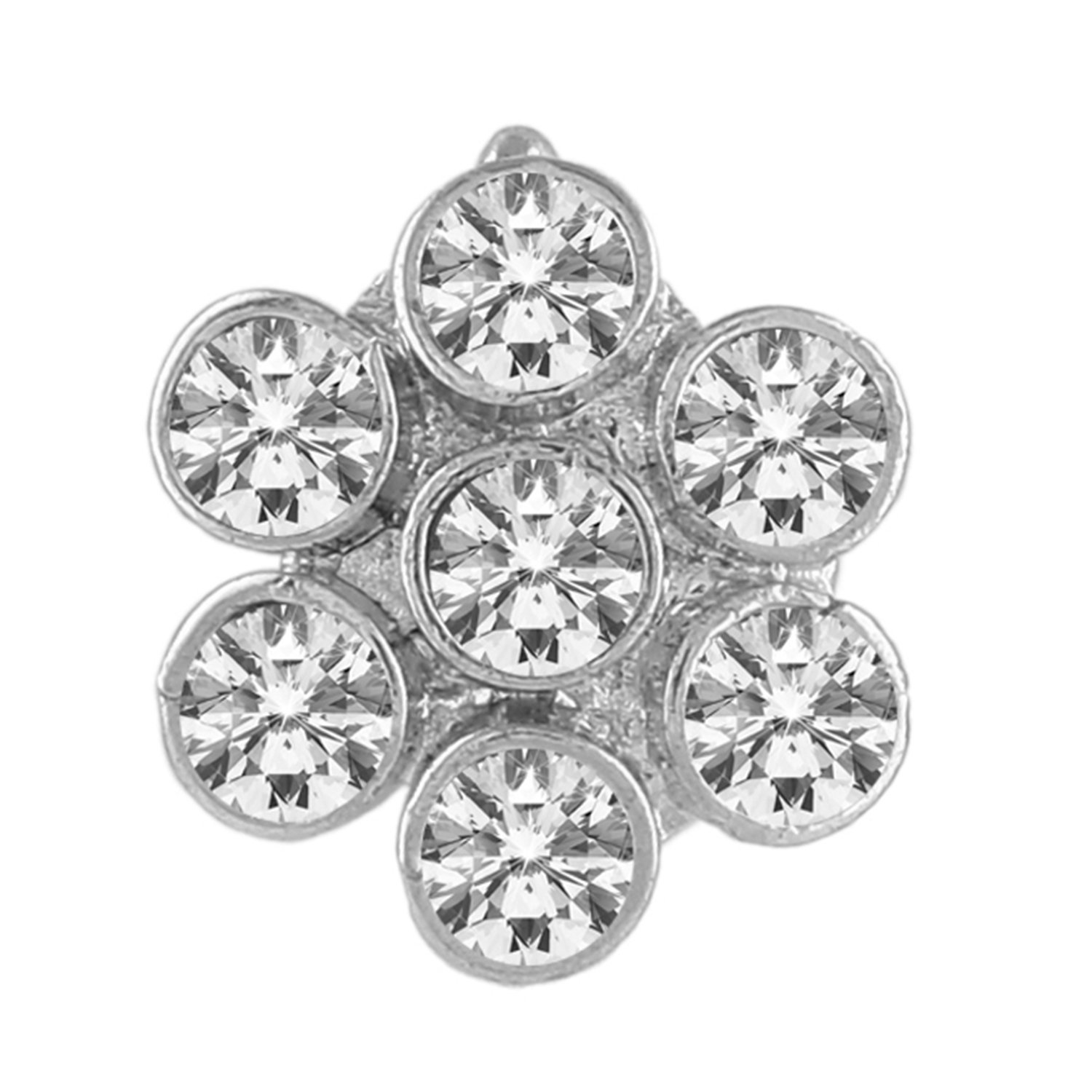 AccessHer AD silver nose pin/nath for women,girls