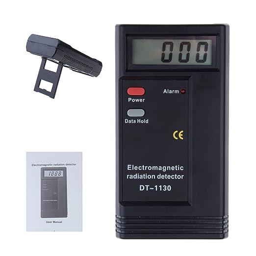 Detector de radiación electromagnética Digital LCD Digital Detector de radiación EMF Meter dosímetro Tester 50 hz