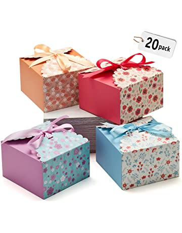 81a3afcc6aa Hayley Cherie Gift Treat Boxes with Ribbons (20 Pack) for Cake