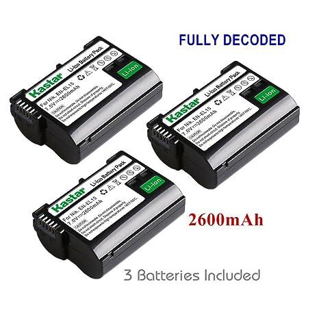 Kastar LCD Dual Cargador rápido + batería para Nikon EN-EL15, D850 ...