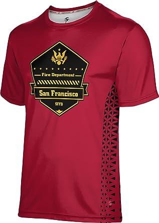 Prosphere Men S San Francisco Fire Department Geometric Shirt