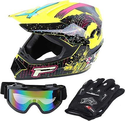 New Adult Motocross Helmet Motorcross MX ATV DirtBike Skull White Black S M L XL