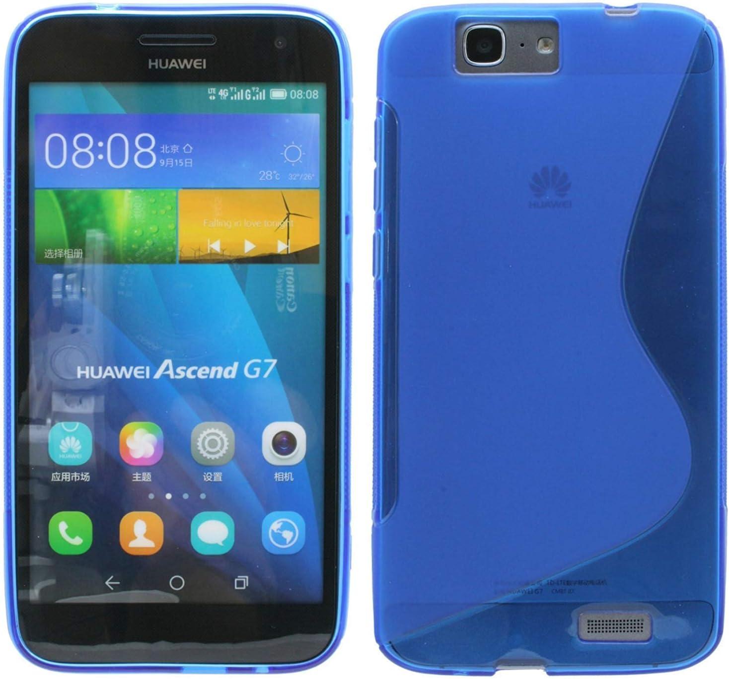 S Line TPU – Carcasa para Huawei Ascend G7 Funda de Silicona en ...