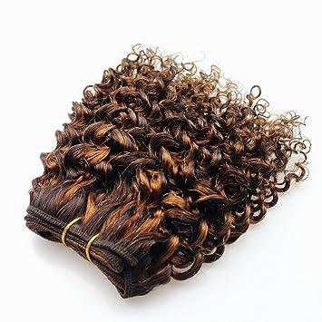 amazon com double drawn hair weft kinky curly 8 inch short
