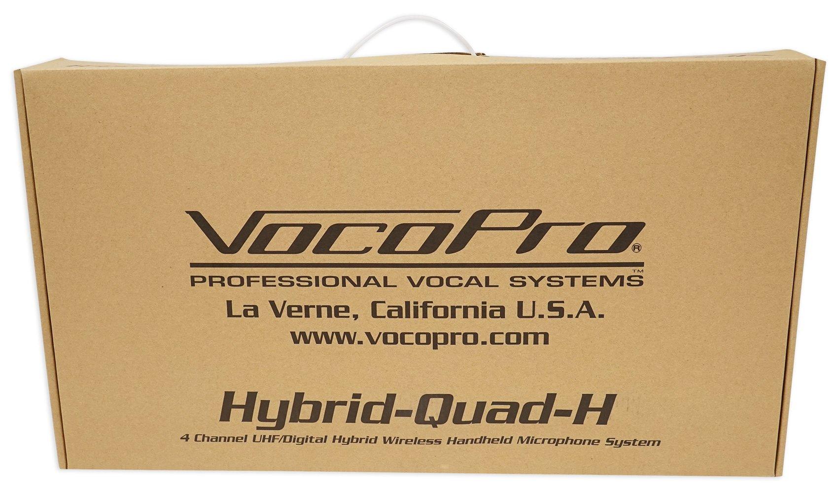 VOCOPRO Four-Channel UHF Digital Wireless Handheld Microphone Mics System-H4