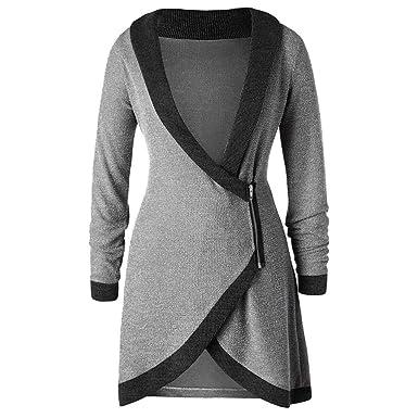 Zolimx Damen Strickjacke Tops Mode Frauen Strickten Kreuz