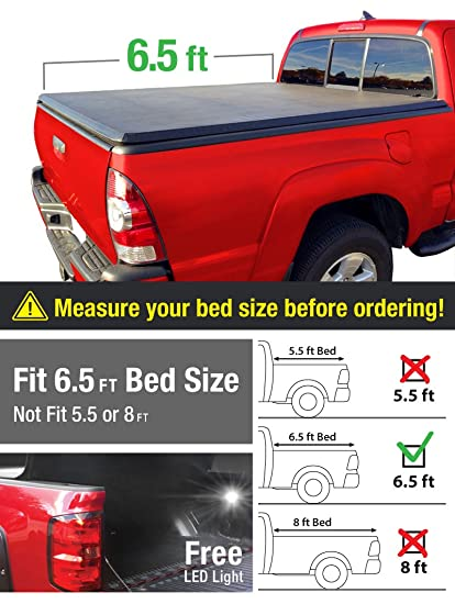 MaxMate Tri Fold Truck Bed Tonneau Cover Works With 2014 2018 Toyota Tundra  |