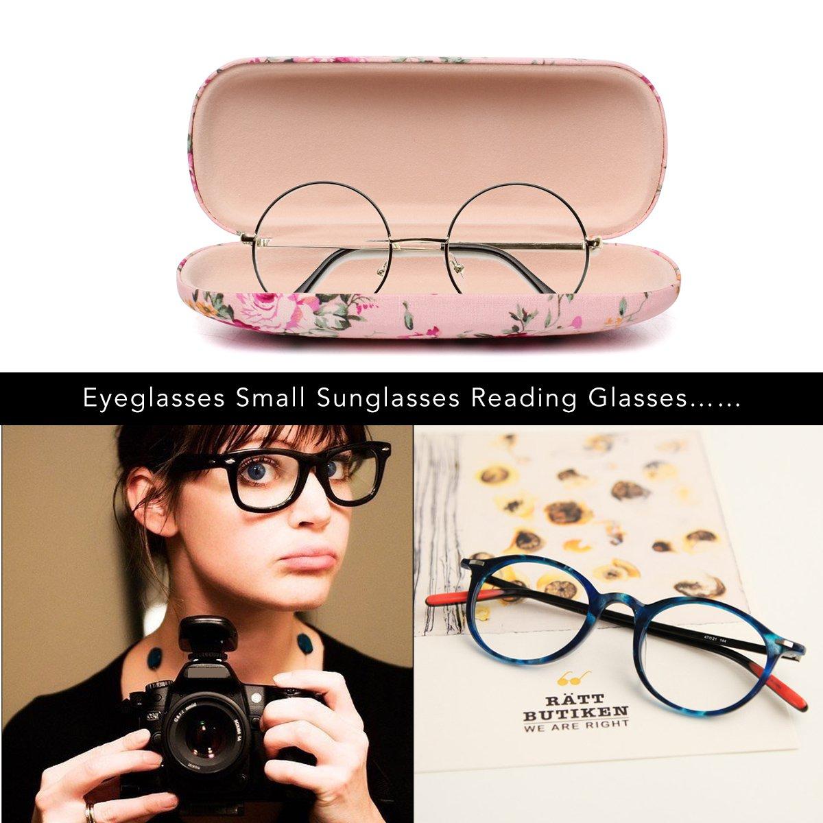 Ezeso Floral Frauen Brille Spektakul/äre F/älle Hart Kleine Schlanke Frauen auge tragen Schutz Box f/ür Damen M/ädchen