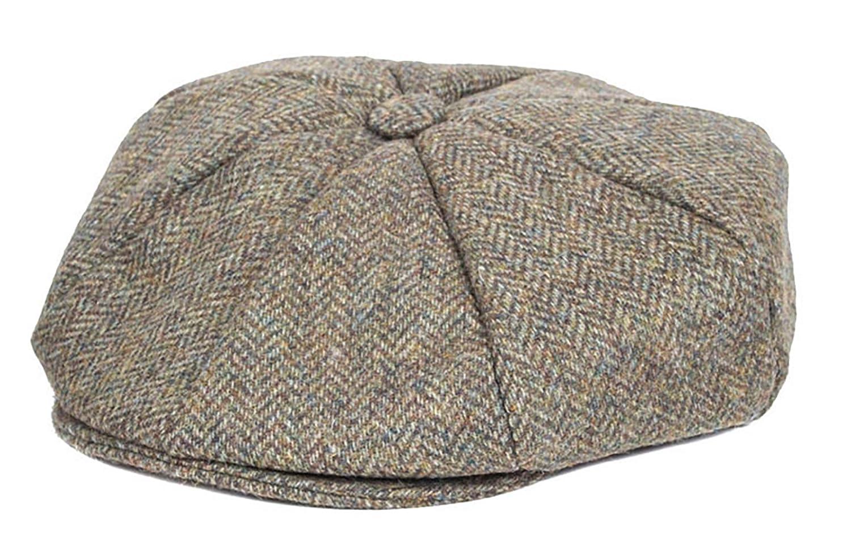 5568cf7148c Dents Abraham Moon Yorkshire Tweed 8 Piece Cap Spruce (Medium)   Amazon.co.uk  Clothing