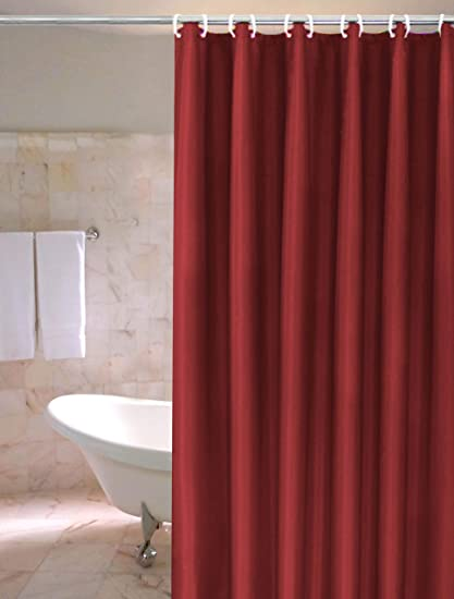 Image Unavailable Not Available For Color Burgundy PVC Shower Curtain Liner