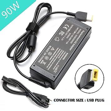 SiKER Cargador del Poder del Adaptador de CA del USB 90W para Lenovo Thinkpad X1 Carbono T440 E431 Lenovo IdeaPad Z510 6277-9QU PA-1900-081