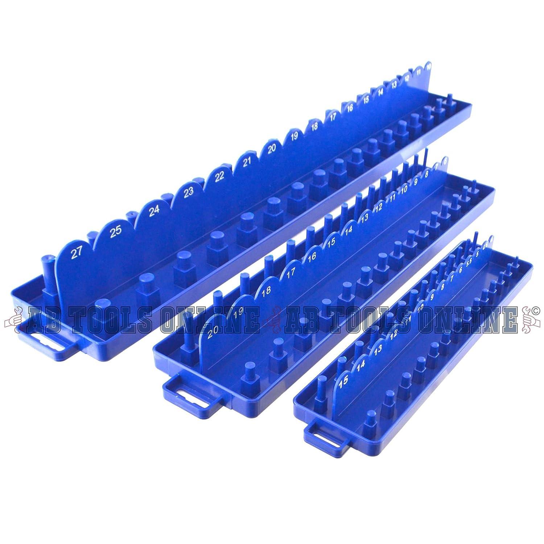 3//8 3pc-ABS-Kunststoff mit Halter Fach setzt Metrische 1//4 1//2 Schiene