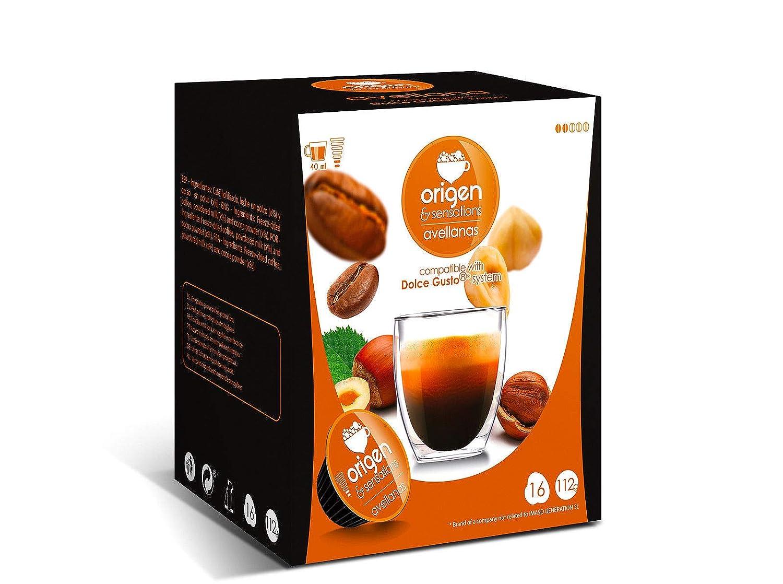 CAPSULAS DE CAFE COMPATIBLES CON MAQUINA DOLCE GUSTO PACK 32 ORIGEN SENSATIONS (AVELLANA): Amazon.es: Alimentación y bebidas