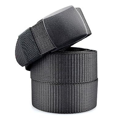 venta caliente online ff31a 71a13 Cinturón Nylon Hombre Militar Táctico Policia Negro Unisex Cinturónes  Ocasional Todo-Fósforo Correa Hombres Cinturón Lona Tela 130cm Largo
